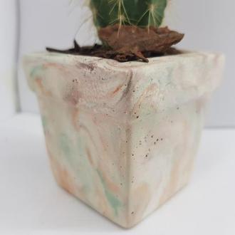 Супер красочное кашпо из бетона, кашпо для цветов, кашпо для кактусов в стиле Loft