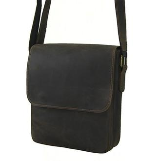 Мужская кожаная сумка коричневая  сумка наплечная мужская повседневные мужские сумки