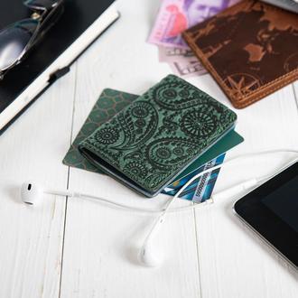 "Обложка-органайзер для документов  ( ID паспорт ) / карт Hi Art AD-03 Shabby Alga ""Buta Art"""
