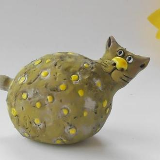 Жёлтый Кот Статуэтка в виде кота
