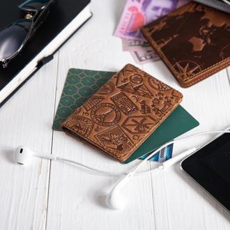 "Обложка-органайзер для документов  ( ID паспорт ) / карт Hi Art AD-03 Shabby Cumaru ""Let's Go Travel"