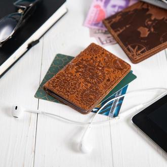 "Обложка-органайзер для документов  ( ID паспорт ) / карт Hi Art AD-03 Crystal Ginger ""Mehendi Art"""