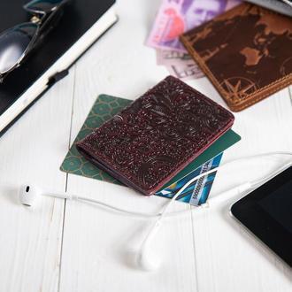 """Обложка-органайзер для документов  ( ID паспорт ) / карт Hi Art AD-03 Crystal Sangria  """"Mehendi Art"""""""