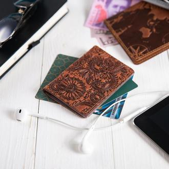 "Обложка-органайзер для документов  ( ID паспорт ) / карт Hi Art AD-03 Shabby Dingo ""Mehendi Art"""