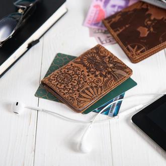 """Обложка-органайзер для документов  ( ID паспорт ) / карт Hi Art AD-03 Shabby Cumaru """"Mehendi Art"""""""