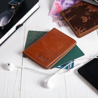 Обложка-органайзер для документов  ( ID паспорт ) / карт Hi Art AD-03  Crystal Amber