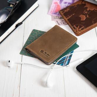 Обложка-органайзер для документов  ( ID паспорт ) / карт Hi Art AD-03 Shabby Olive