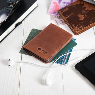 Обложка-органайзер для документов  ( ID паспорт ) / карт Hi Art AD-03 Shabby Сognac