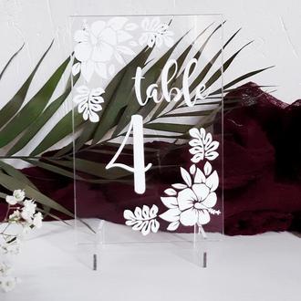 Номерки на столы для свадьбы