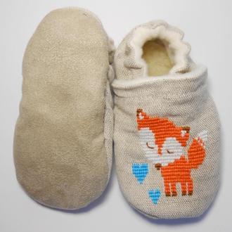 Домашнє взуття для дітей від 0 до 2х років ручної роботи Розміри:16-22