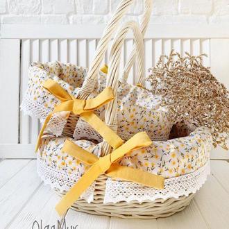 Набор пасхальных корзин «Желтенькие цветочки»