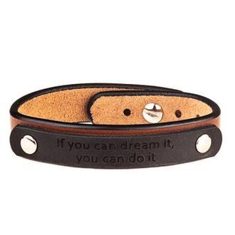 Коньячный браслет с табличкой