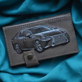 "Кожаный кошелек ""Lexus GS 200t"""