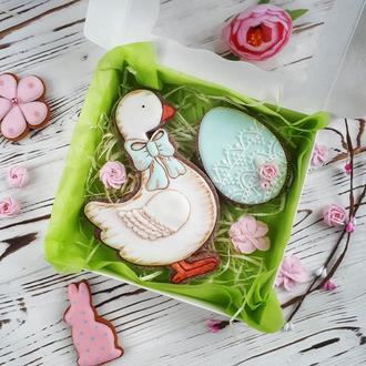 Пасхальный пряник на Пасху «Гусь и яйцо»