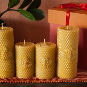 """Комплект натуральных свечей из вощины """"Для семьи"""""""