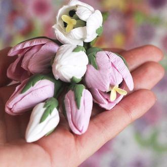 """Брошь с цветами """"Тюльпаны"""""""