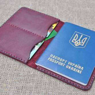 Вместительная кожаная обложка для паспорта P05-800