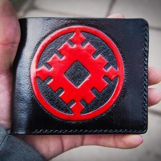 Кошелек руны, славянский кошелёк, Черный бумажник
