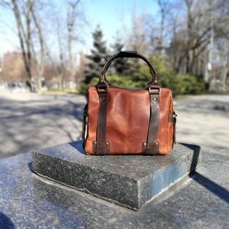 Мужская кожаная сумка для ноутбка и документов