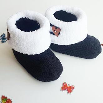 Детские угги Детские тапочки,детские ботинки Детские пинетки, пинетки для малыша, теплые пинетки,