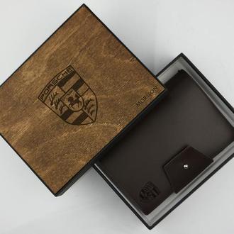 Коричневый кожаный блокнот, Купить не большой блокнот в Украине, Именной кожаный блокнот
