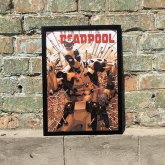 "Постер в рамке под стеклом А3 ""Дедпул"" (Deadpool)"""