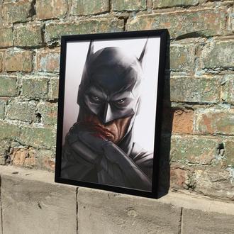 "Постер на ПВХ 3 мм. в рамке ""Бэтмен"" (Batman)"