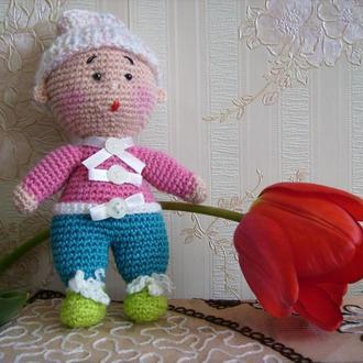 Вязаная игрушка(амигуруми)-пупс