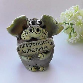 Фигурка свиньи Свинка Приятного аппетита