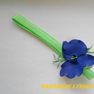 Повязка для девочки с орхидеей