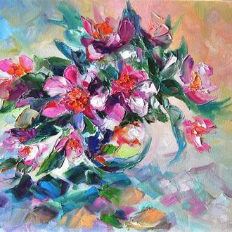 Картина маслом «Аромат лета», 40х50см  цветы маслом