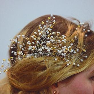 Свадебный .Праздничный Гребень в волосы