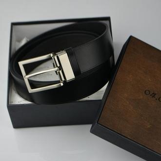 Мужской кожаный ремень, Кожаный черный ремень, Подарочный кожаный ремень, кожаный ремень под заказ