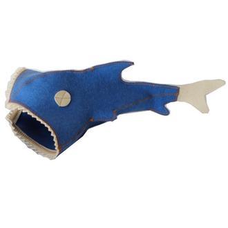 """Банная шапка Luxyart """"Рыба"""" натуральный войлок, синий (LA-177)"""