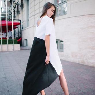 Нарядное асимметричное платье