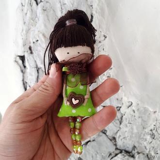 """Текстильная куколка-брошка """"Лесная фея"""""""