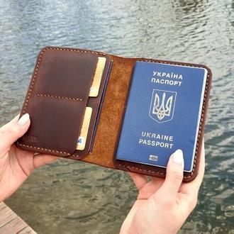 Портмоне для паспорта и документов, докхолдер кожаный .