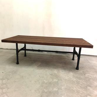 Журнальный столик Simple из водопроводных труб и натурального дуба