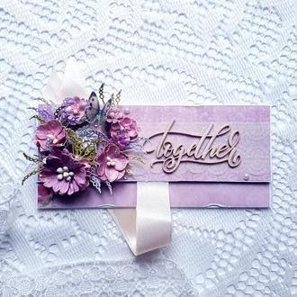 Конверт для денег, свадебный конверт, конверт на подарок