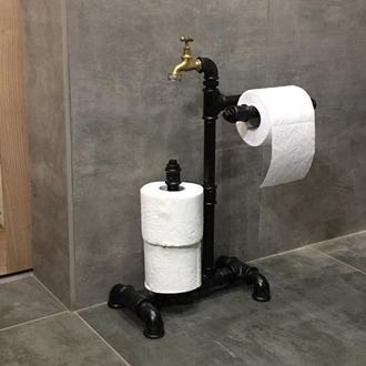 Стойка для туалетной бумаги Loft из водопроводных труб