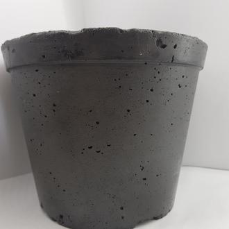 Кашпо из бетона, горшок для цветов из бетона сделанный вручную, стиль Loft