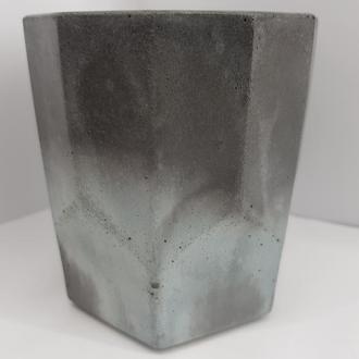 Стакан для виски из бетона, в стиле Loft - графитовый с бирюзой