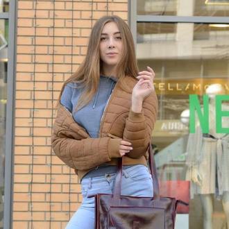Женская лаковая кожаная сумка на длинном ремне, Сумка шоппер на плечо