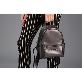 Женский рюкзак темно серебряного