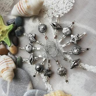 Маркеры-петли для вязания Морское царство, 6 шт или 12 шт