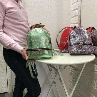 Небольшой  женский рюкзачок. Кожаный женский рюкзак.
