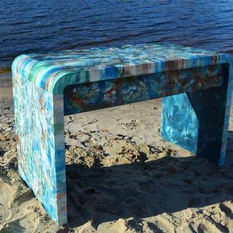 Стол МДФ с цветной смолой