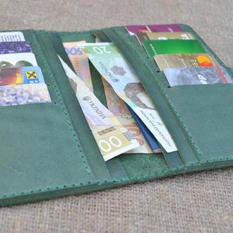 Зеленый вместительный кошелек K49-350