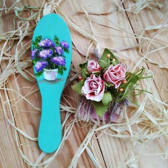 Расческа , цветы