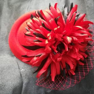 Шляпка с вуалью Хризантема